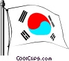 Vector Clip Art picture  of a Korea flag