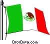 Mexico flag Vector Clipart illustration