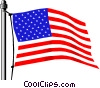 Vector Clip Art image  of a United States flag