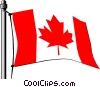 Vector Clip Art graphic  of a Canada flag