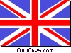 Vector Clip Art image  of a United Kingdom flag