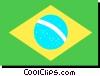 Brazil flag Vector Clipart image