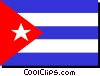 Vector Clipart picture  of a Cuba flag