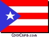 Puerto Rico flag Vector Clipart graphic