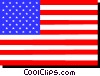 United States flag Vector Clipart illustration