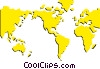 Vector Clipart graphic  of a World maps