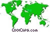 World maps Vector Clipart illustration