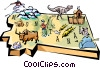 Vector Clipart image  of a Montana vignette map