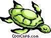 Vector Clip Art image  of a Sea turtle
