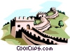 Vector Clipart image  of a The Great Wall of China