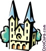 Vector Clipart illustration  of a German Church