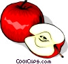 Sliced Apples Vector Clipart picture