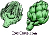 Vector Clip Art graphic  of a Sliced Artichokes