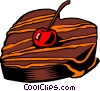 Vector Clip Art picture  of a Chocolate and cherry