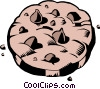 Chocolate chip cookies Vector Clip Art graphic