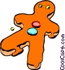 Vector Clipart image  of a Gingerbread man