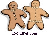 Gingerbread men Vector Clipart illustration