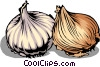 Vector Clipart illustration  of a Two Onions