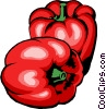 Vector Clip Art picture  of a Red peppers