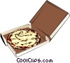Vector Clip Art image  of a Pizza in a box