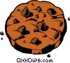 Chocolate chip cookie Vector Clipart illustration