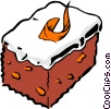 Vector Clip Art graphic  of a Carrot cake