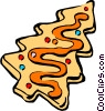 Vector Clipart graphic  of a Christmas cookie