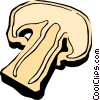 Vector Clip Art image  of a Mushroom slice