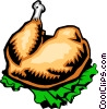 Vector Clip Art graphic  of a Turkey leg