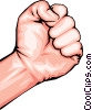 Clenched fist Vector Clip Art graphic