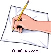 Vector Clip Art graphic  of a Hands writing