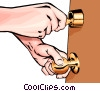 Hands with key Vector Clipart image