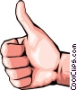 Hand with thumbs-up Vector Clip Art picture