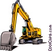 Vector Clip Art image  of a Heavy equipment