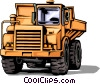 Vector Clipart graphic  of a Dump truck