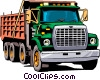 Vector Clipart picture  of a Dump truck