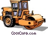 Steam roller Vector Clip Art image