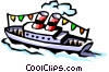 Vector Clipart picture  of a Tour boat