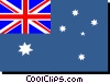 Vector Clipart illustration  of an Australia flag