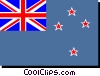 Vector Clip Art graphic  of a New Zealand flag