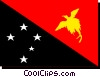 New Guinea flag Vector Clipart picture