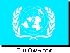 Vector Clipart graphic  of a United Nations flag