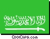 Vector Clipart graphic  of a Saudi Arabia flag