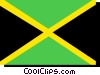 Vector Clipart picture  of a Jamaica flag