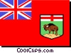 Vector Clip Art graphic  of a Flag of Manitoba
