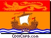 Flag of New Brunswick Vector Clipart image