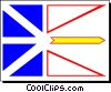 Vector Clipart picture  of a Flag of Newfoundland