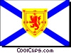 Vector Clip Art image  of a Flag of Nova Scotia