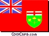 Vector Clipart illustration  of a Flag of Ontario