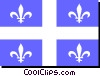 Vector Clip Art image  of a Flag of Quebec